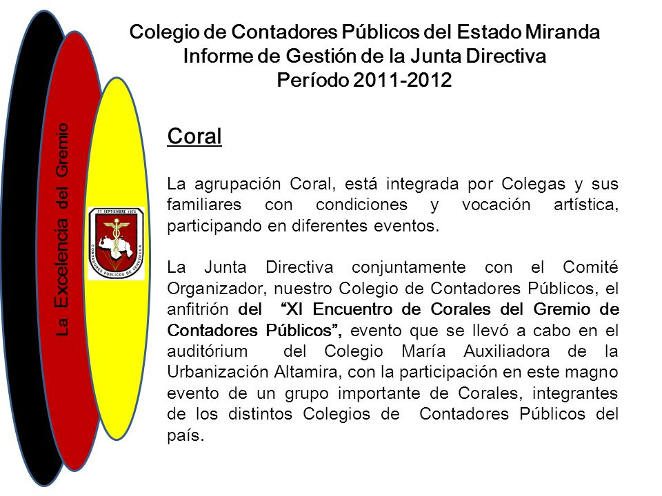 Coral Colegio de Contadores Públicos del Estado Miranda
