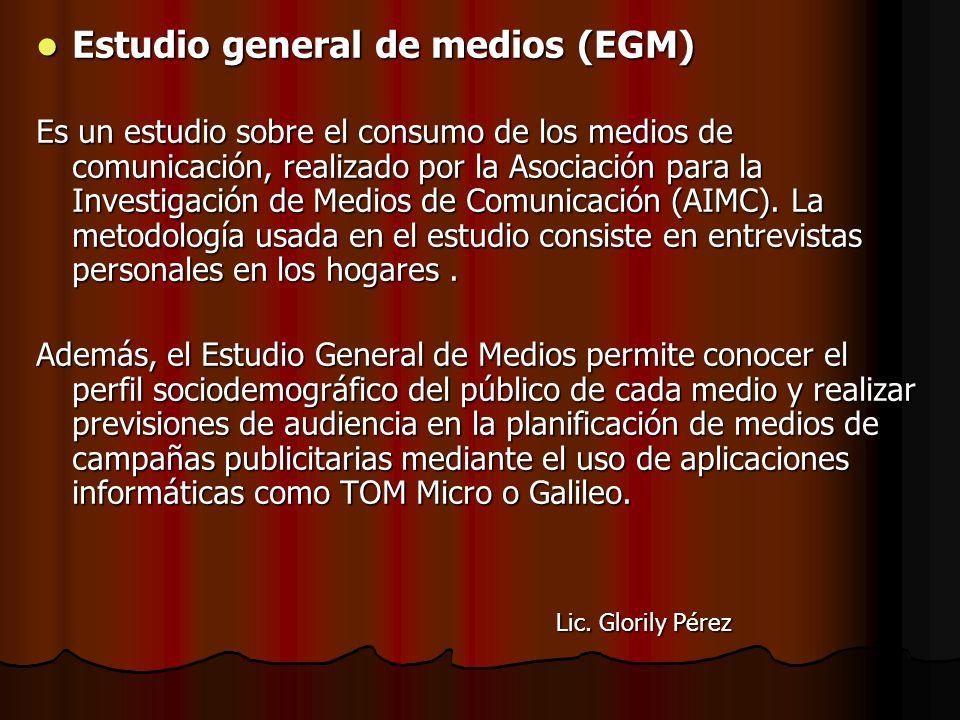 Estudio general de medios (EGM)