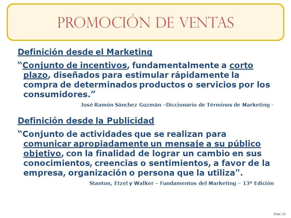 Promoción de ventas Definición desde el Marketing