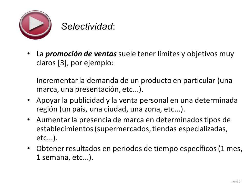 Selectividad: