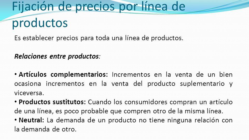 Fijación de precios por línea de productos