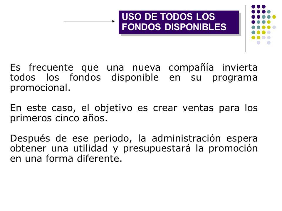 USO DE TODOS LOS FONDOS DISPONIBLES