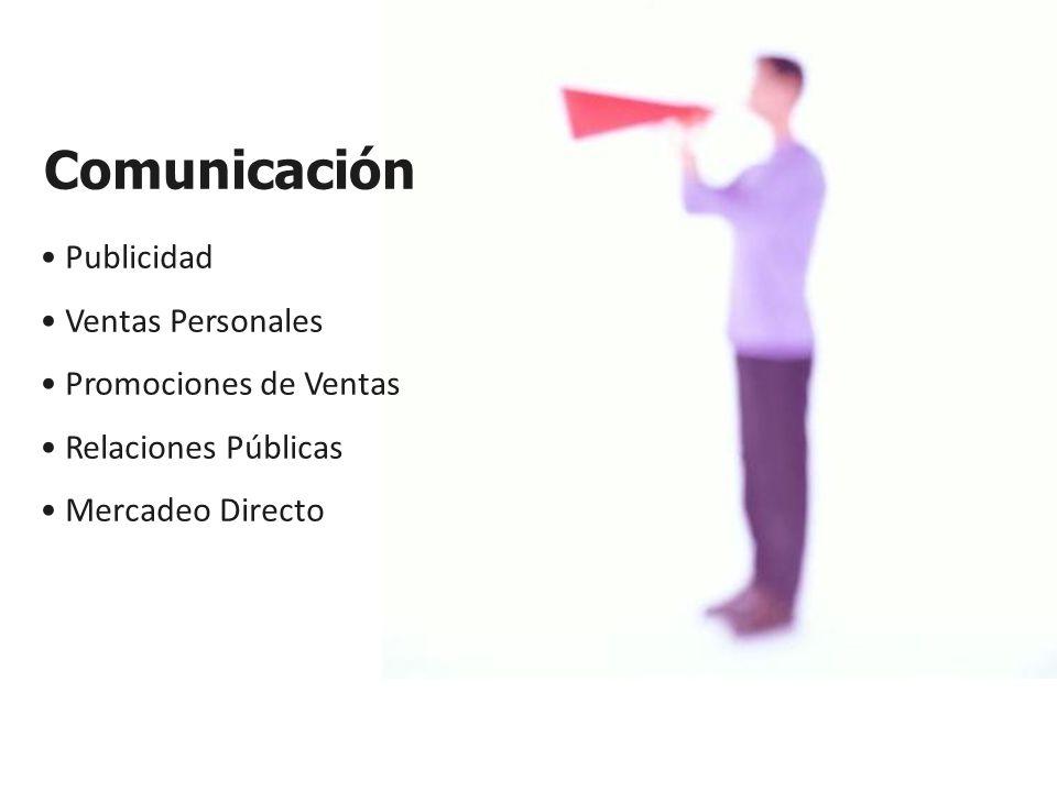Comunicación Publicidad Ventas Personales Promociones de Ventas