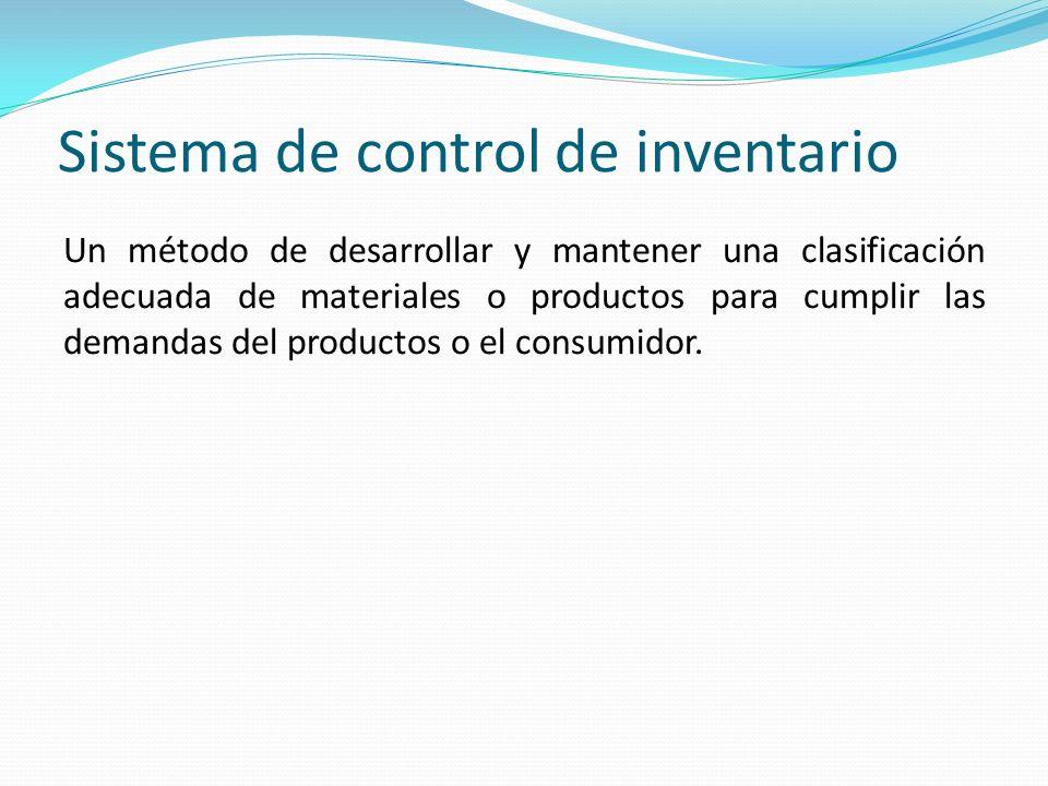 Sistema de control de inventario