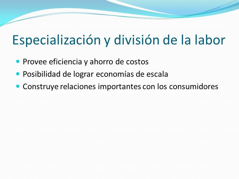Especialización y división de la labor