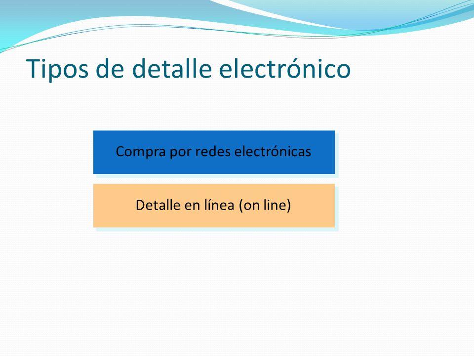 Tipos de detalle electrónico