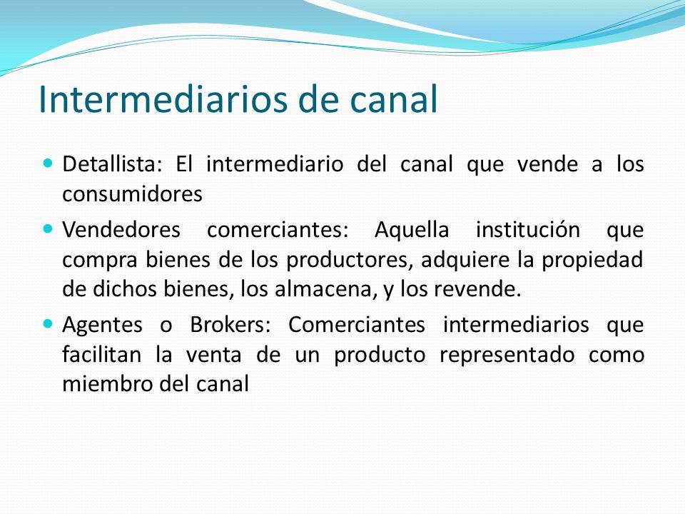 Intermediarios de canal