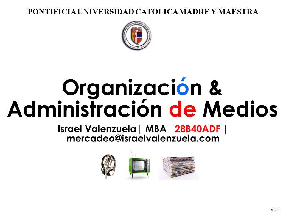 Organización & Administración de Medios