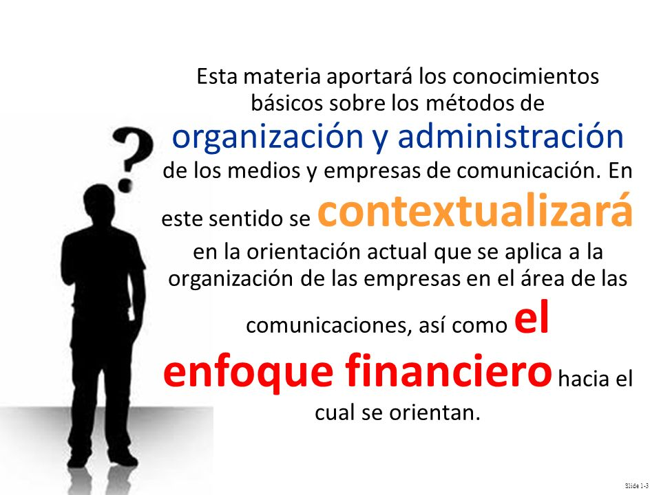 Esta materia aportará los conocimientos básicos sobre los métodos de organización y administración de los medios y empresas de comunicación.