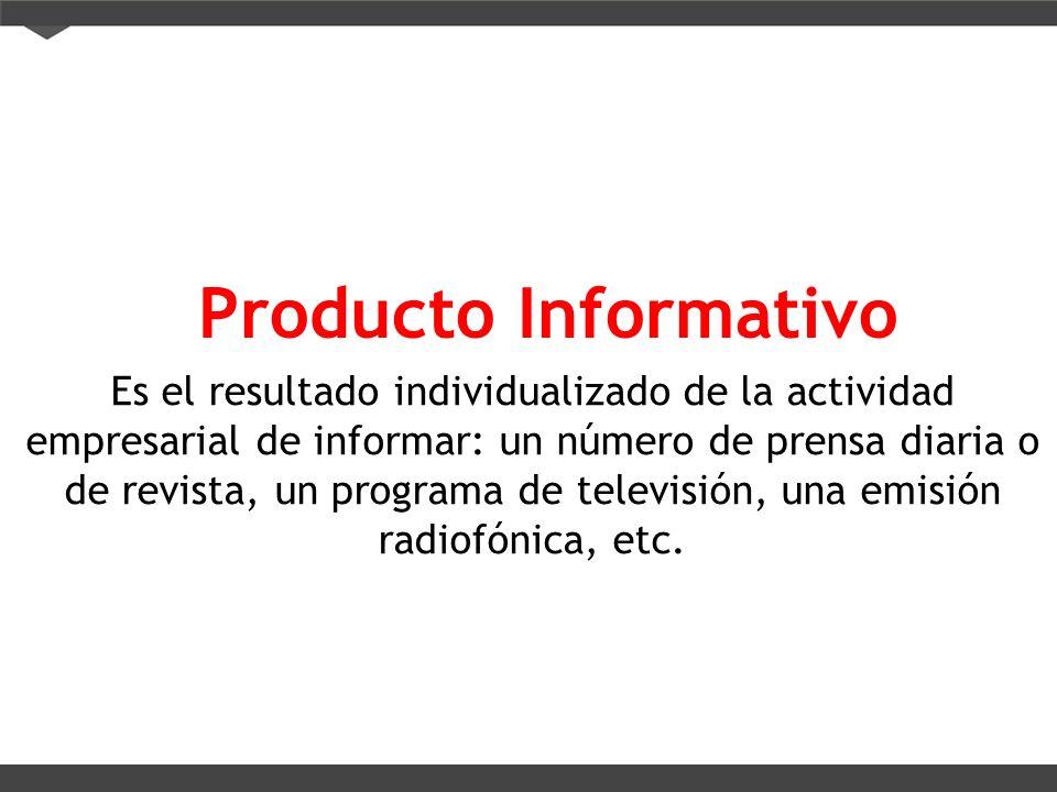 Producto Informativo