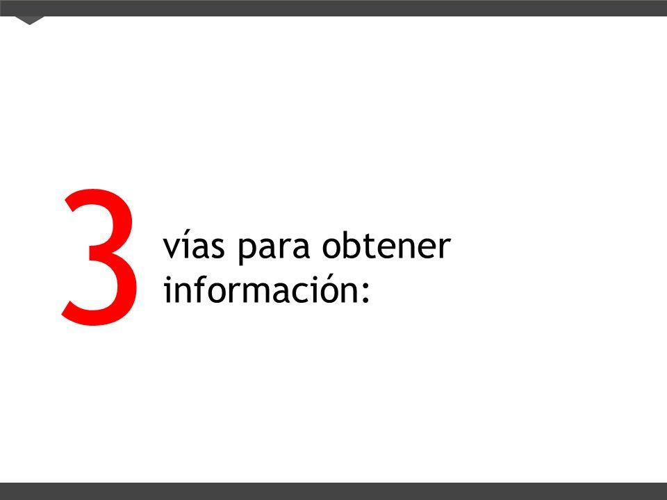 3 vías para obtener información: