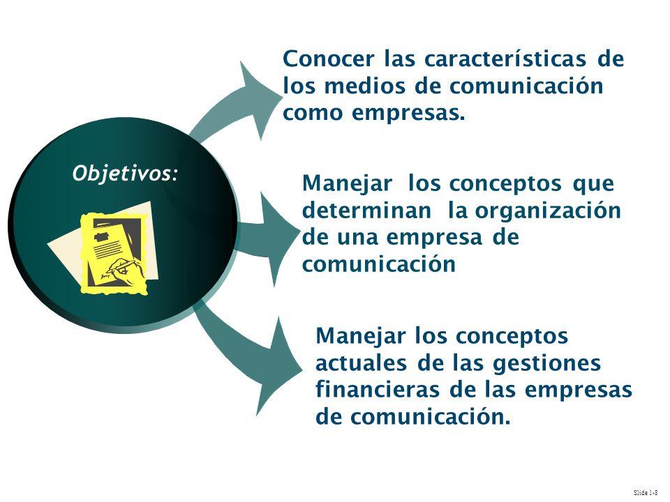 INIT Conocer las características de los medios de comunicación como empresas.