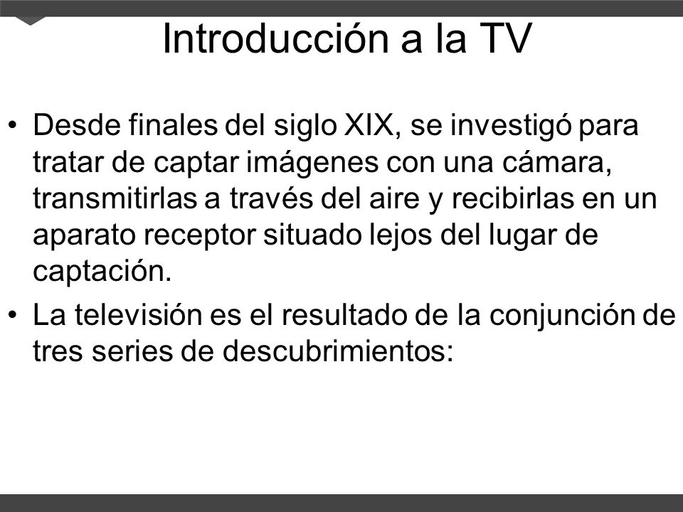 Introducción a la TV