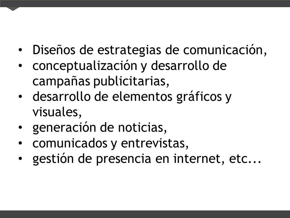 Diseños de estrategias de comunicación,
