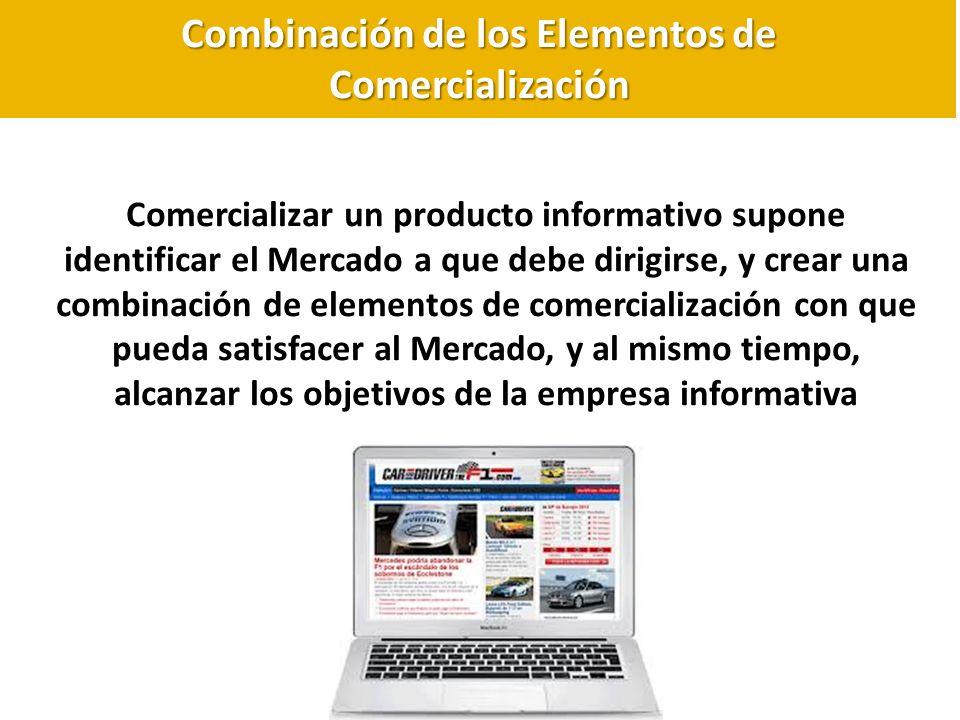 Combinación de los Elementos de Comercialización