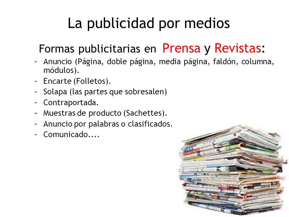 La publicidad por medios
