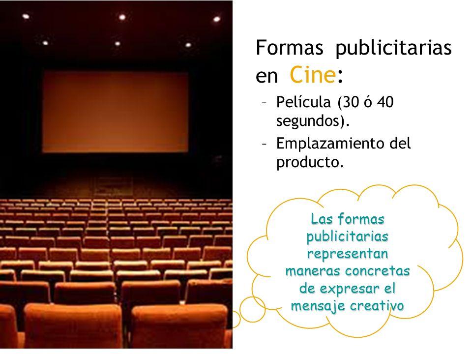 Formas publicitarias en Cine: