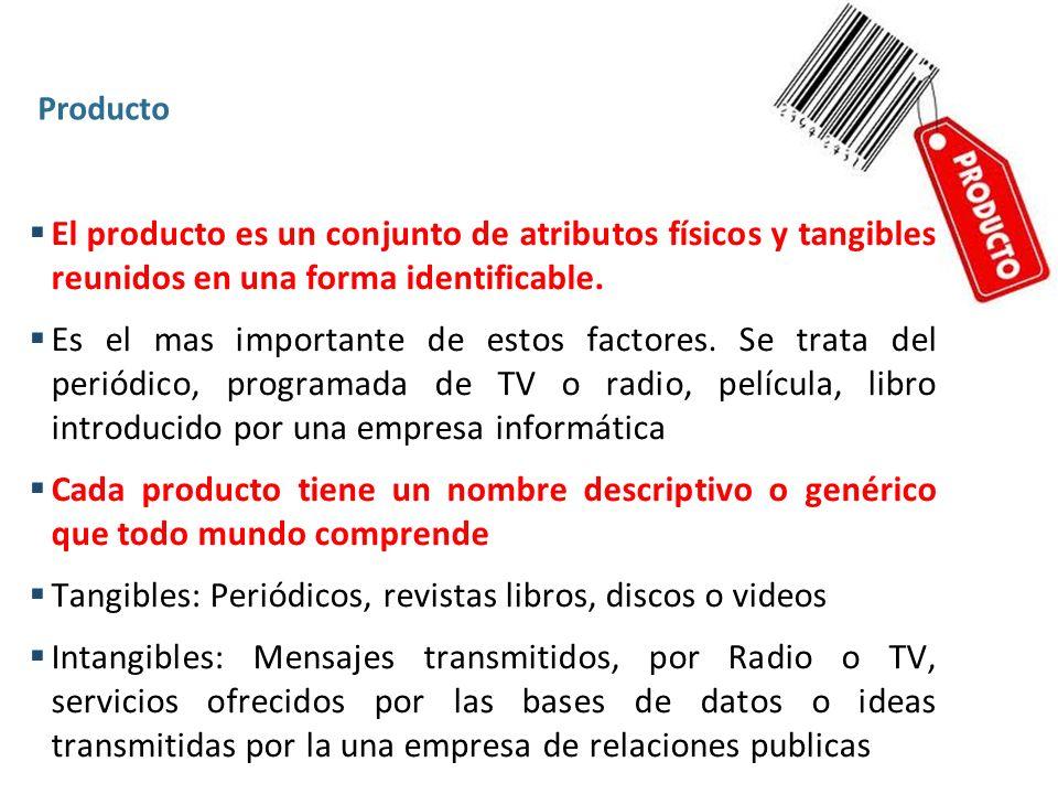 Tangibles: Periódicos, revistas libros, discos o videos
