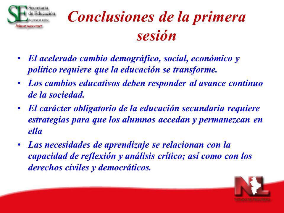 Conclusiones de la primera sesión