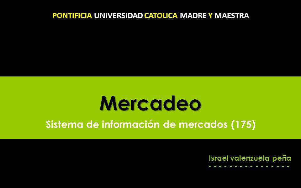 Mercadeo Sistema de información de mercados (175)