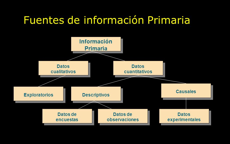 Fuentes de información Primaria