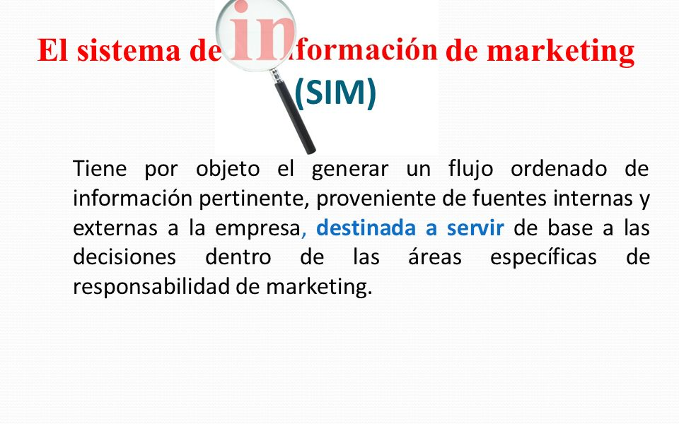 El sistema de de marketing (SIM)