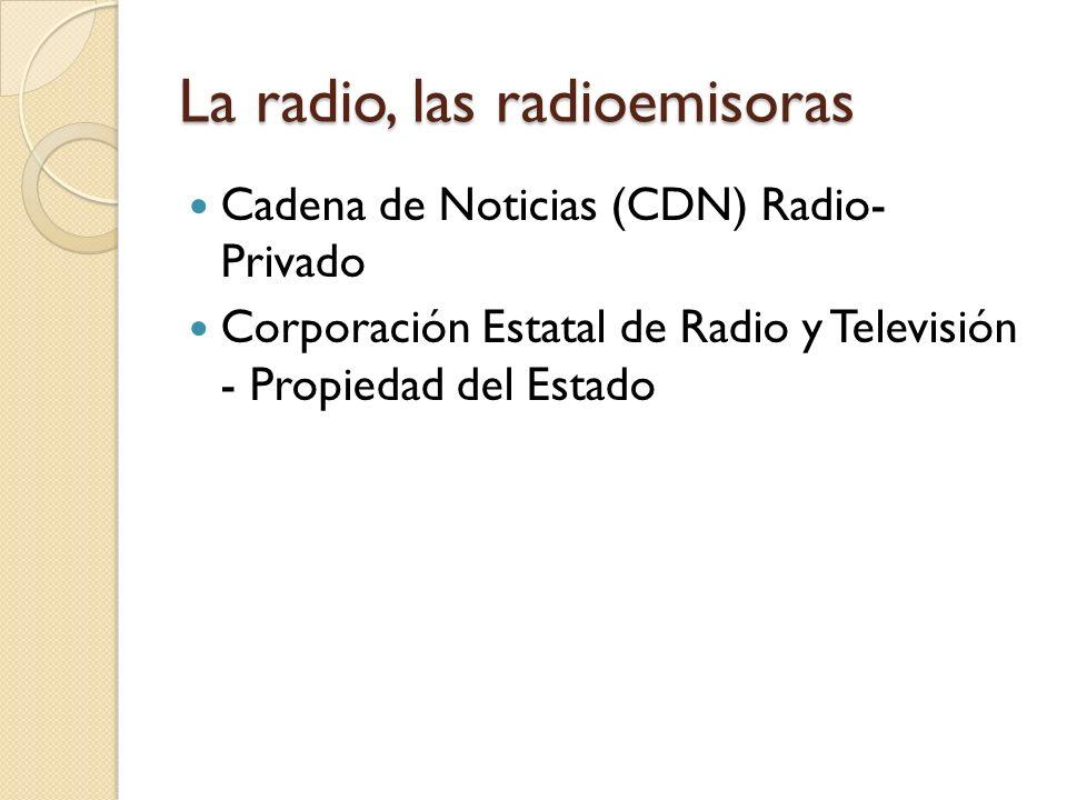 La radio, las radioemisoras