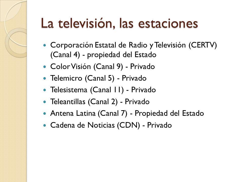 La televisión, las estaciones
