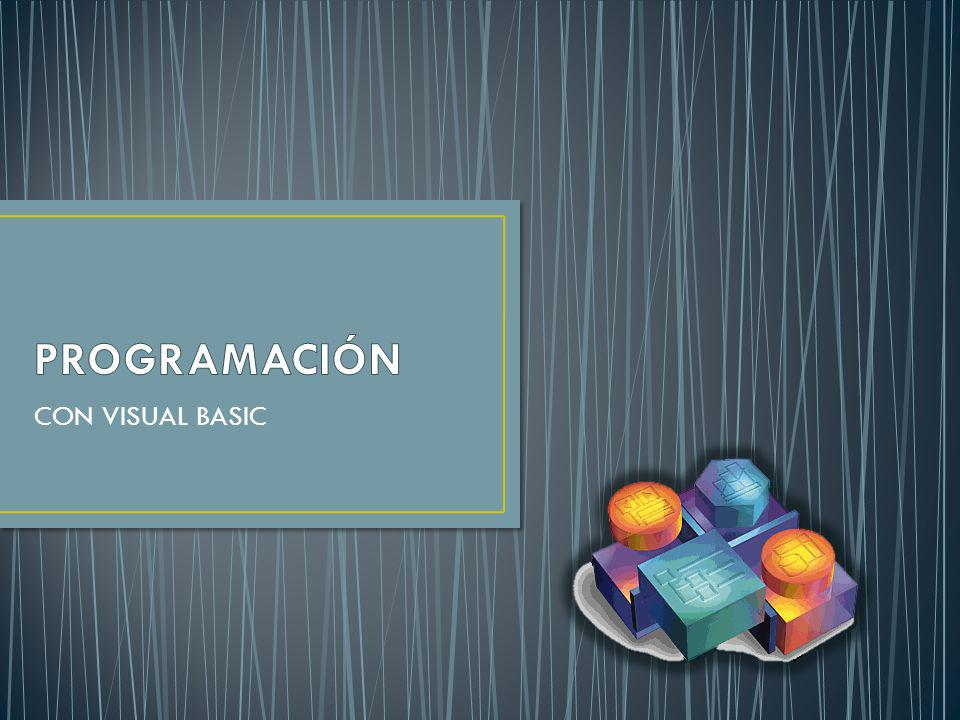 PROGRAMACIÓN CON VISUAL BASIC