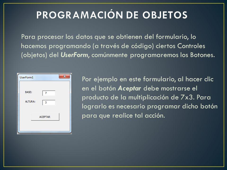 PROGRAMACIÓN DE OBJETOS