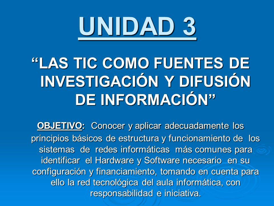 LAS TIC COMO FUENTES DE INVESTIGACIÓN Y DIFUSIÓN DE INFORMACIÓN