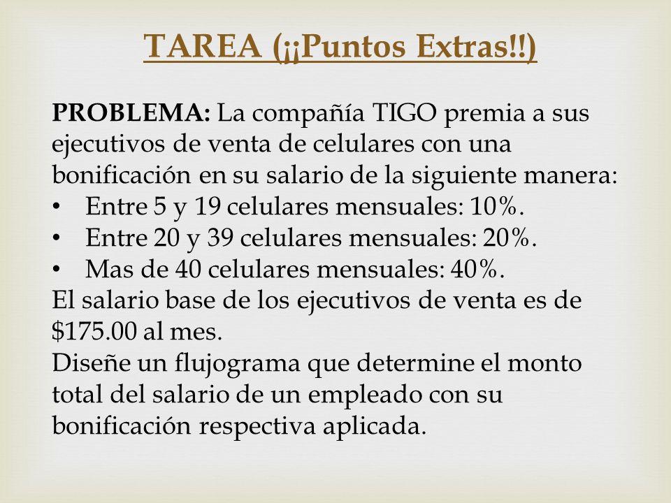 TAREA (¡¡Puntos Extras!!)
