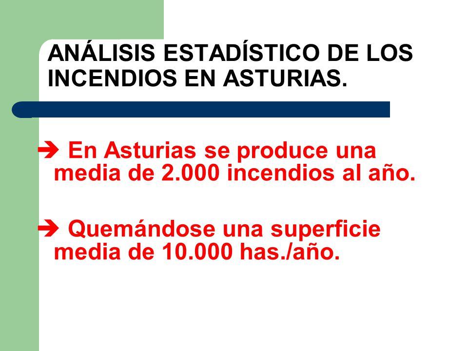 ANÁLISIS ESTADÍSTICO DE LOS INCENDIOS EN ASTURIAS.
