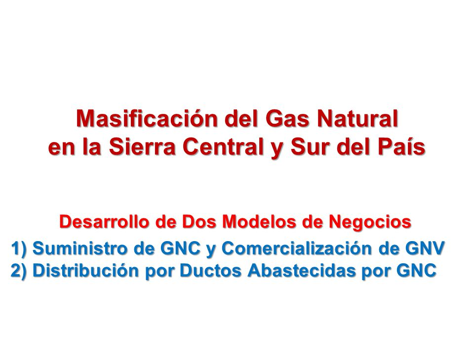 Esquema para acelerar la masificaci n del gas natural en for Pavimentos y suministros del sur