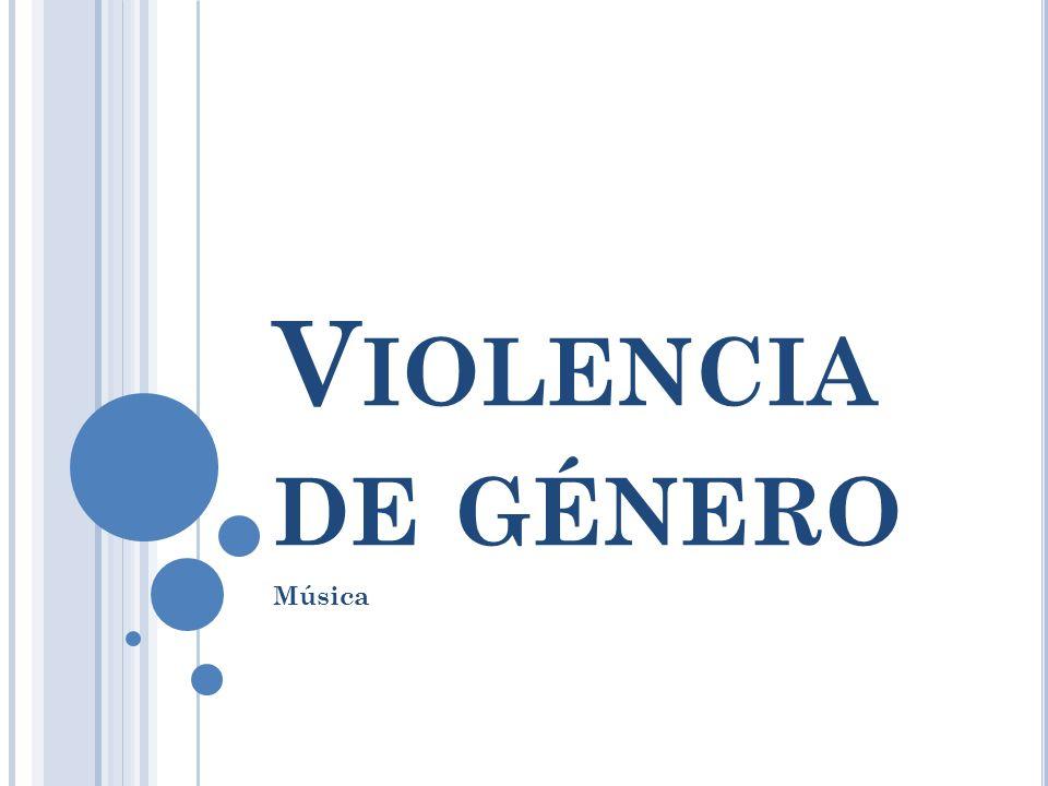 Violencia de género Música