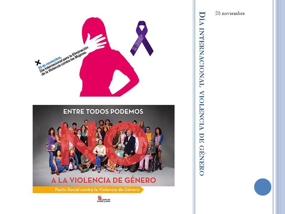 Día internacional violencia de género