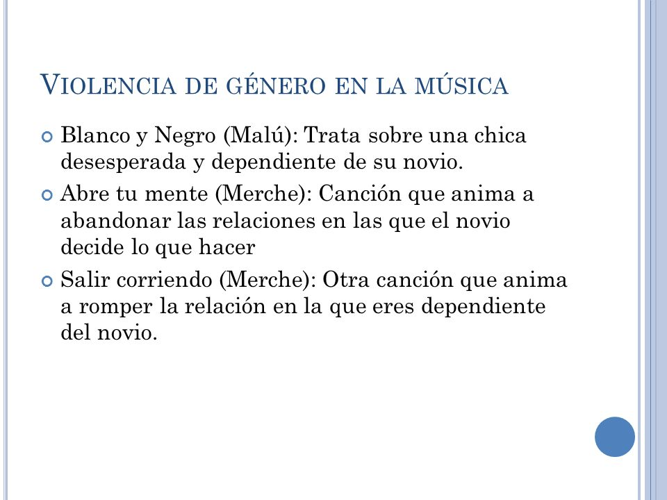 Violencia de género en la música