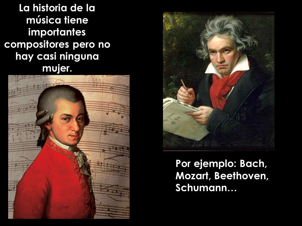 La historia de la música tiene importantes compositores pero no hay casi ninguna mujer.