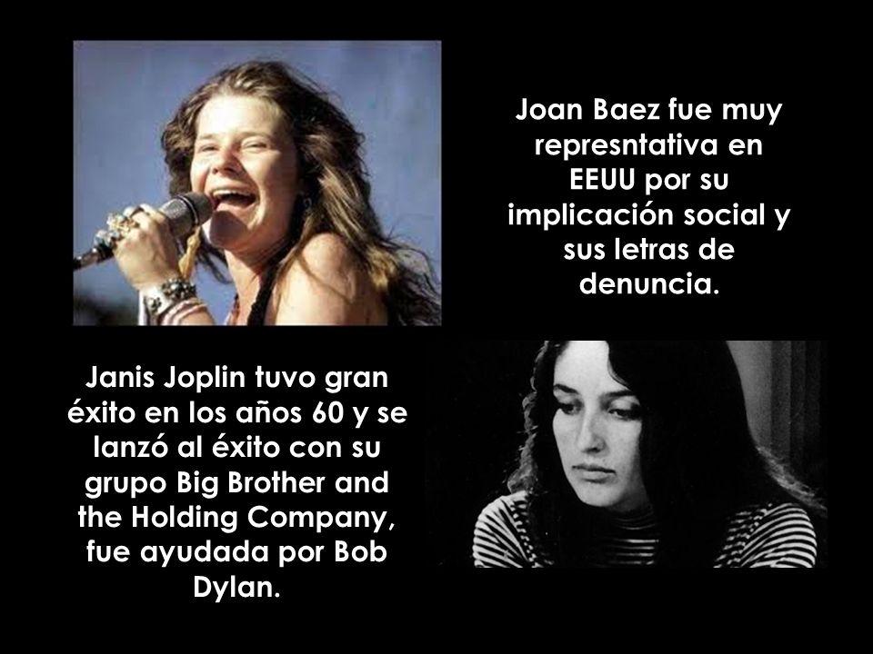 Joan Baez fue muy represntativa en EEUU por su implicación social y sus letras de denuncia.