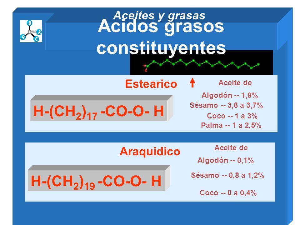 Acidos grasos constituyentes