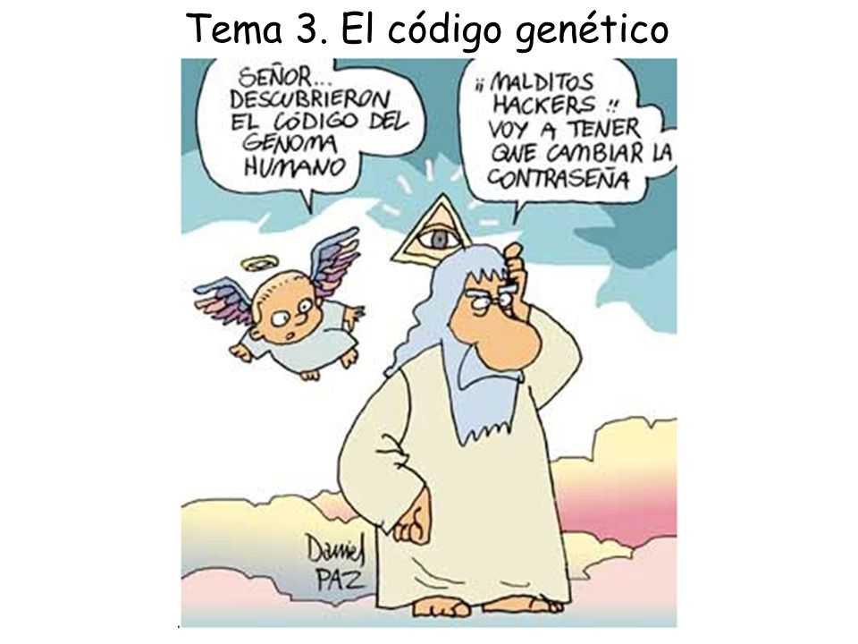 Tema 3. El código genético