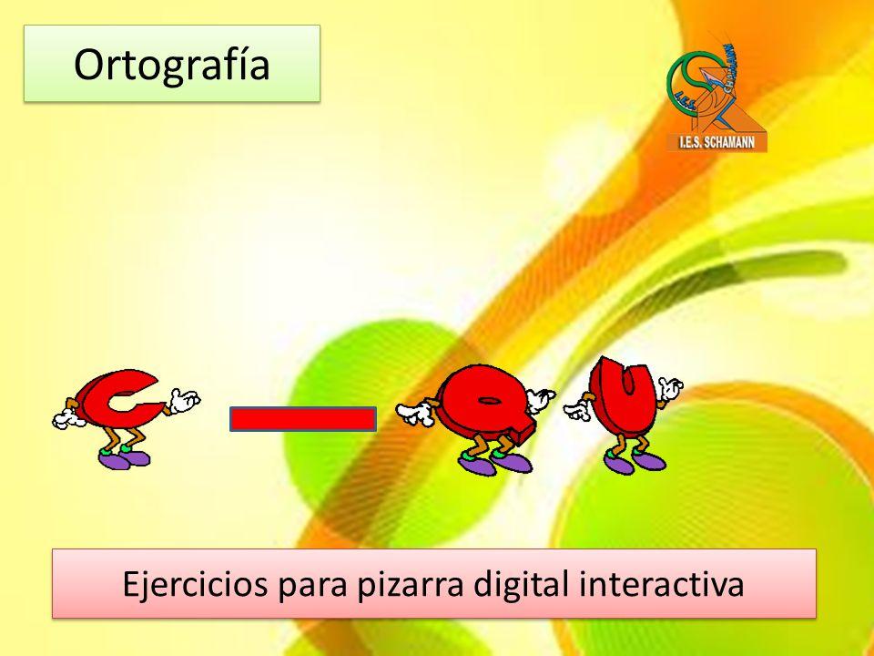 Ejercicios para pizarra digital interactiva