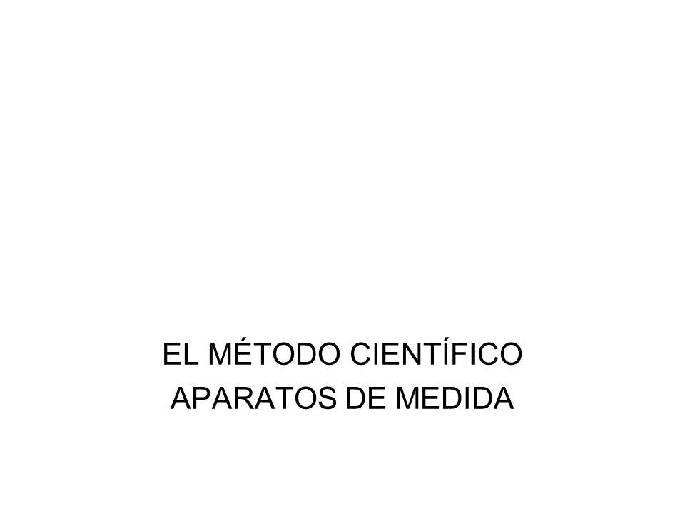 EL MÉTODO CIENTÍFICO APARATOS DE MEDIDA