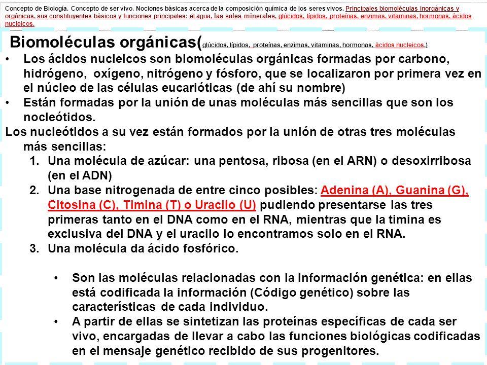 Concepto de Biología. Concepto de ser vivo