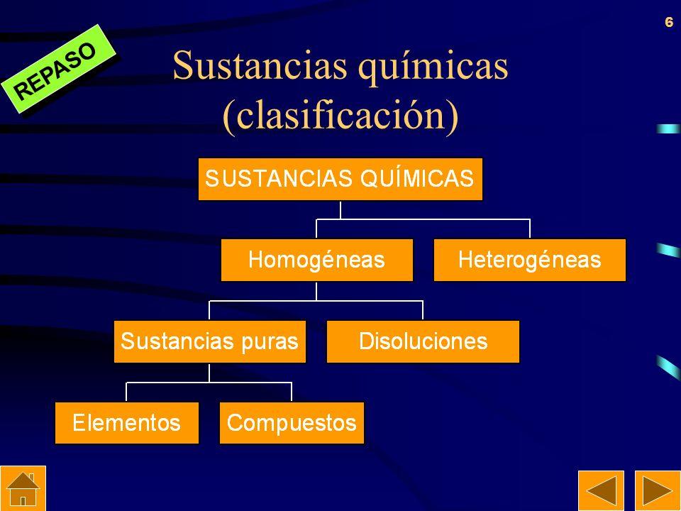 Sustancias químicas (clasificación)