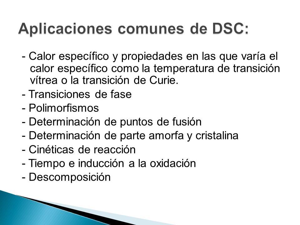 Aplicaciones comunes de DSC: