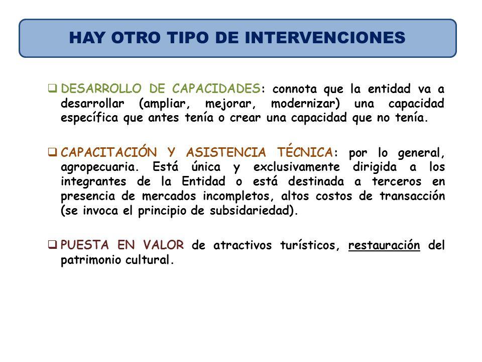 HAY OTRO TIPO DE INTERVENCIONES
