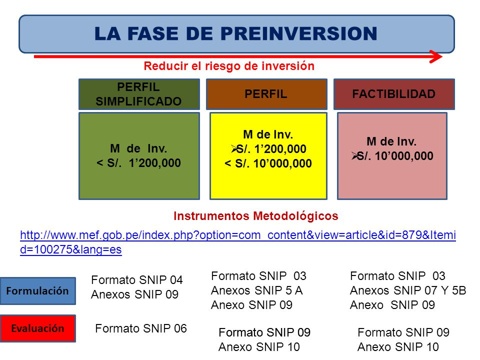 LA FASE DE PREINVERSION