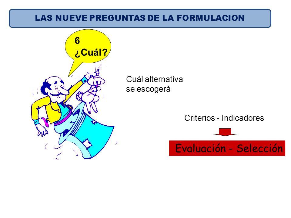 LAS NUEVE PREGUNTAS DE LA FORMULACION