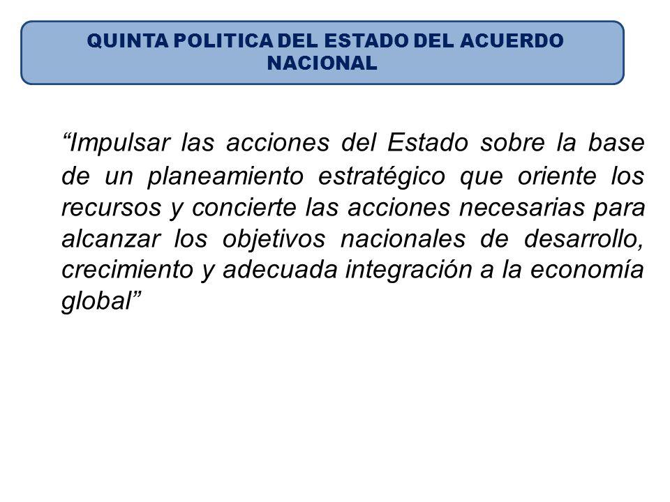 QUINTA POLITICA DEL ESTADO DEL ACUERDO NACIONAL